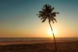 Beautiful sunset in GOA, India
