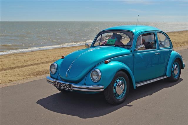 Classic Blue Volkswagen Beetle Car