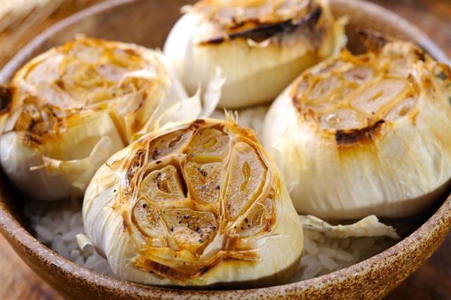 Roasted Garlic in bowl