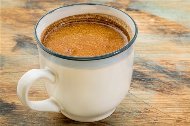 Fresh fatty coffee