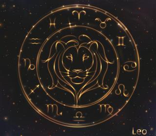 Golden shining Leo