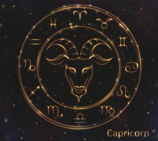 Golden shining Capricorn
