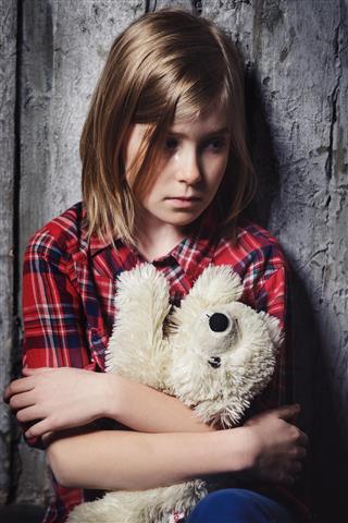 fearful girl