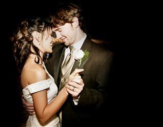 Beautiful Bride and Groom Wedding Dress Dancing