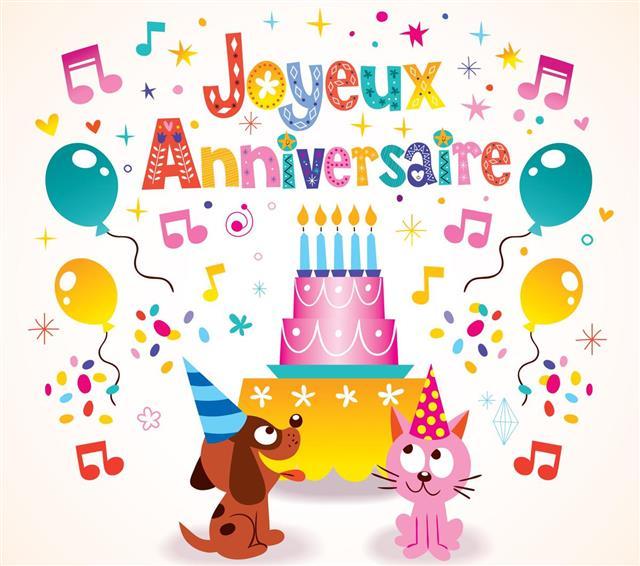 Joyeux Anniversaire Happy Birthday in French