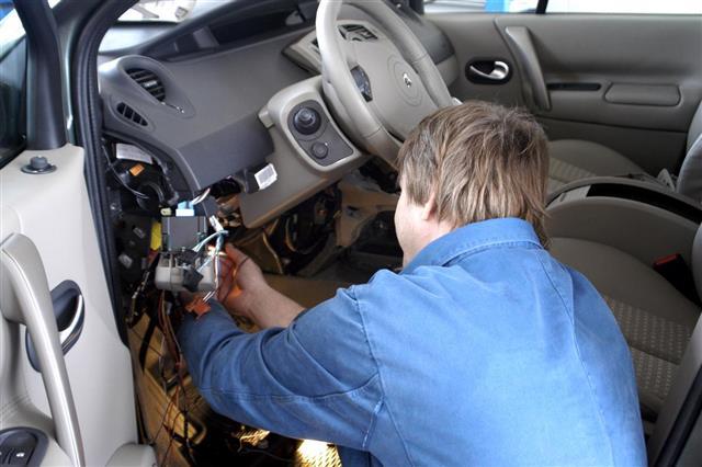 Auto mechanic working - Car electric repair