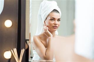 Beauty woman after bath