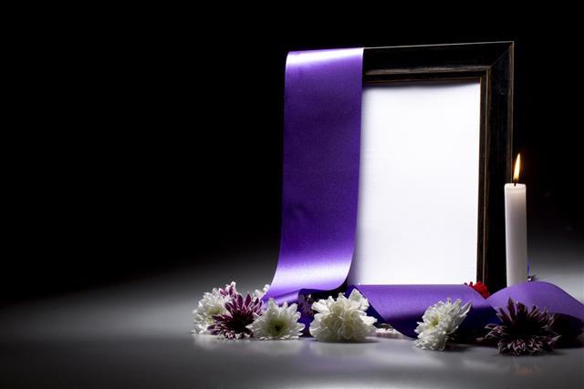 Blank mourning frame