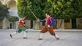 Soldiers Sword Fighting