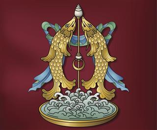 golden fish buddhism symbol