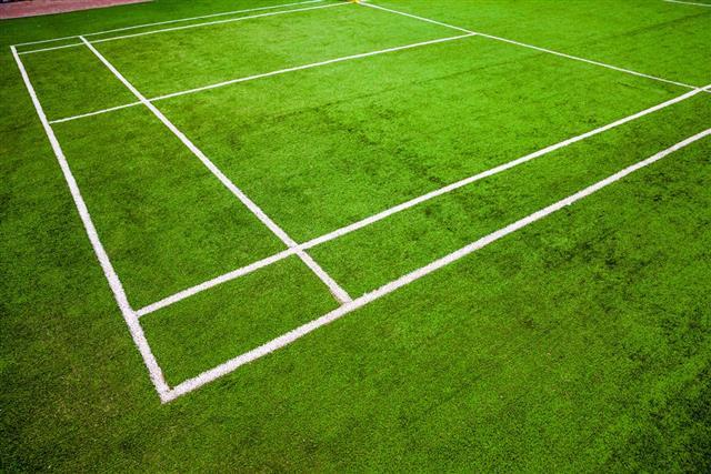 Badminton courts corner