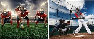 Football and Baseball Teams
