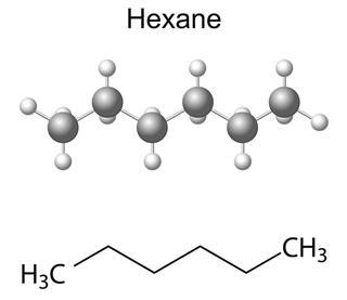 hexane molecule