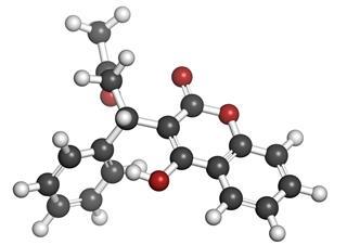 Warfarin chemical structure