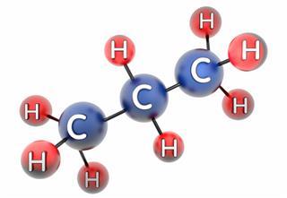molecule of propane