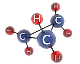 Cyclopropane molecule
