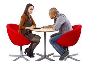 Female Ignoring a Boring Date