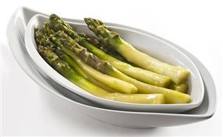 Steamed green Asparagus