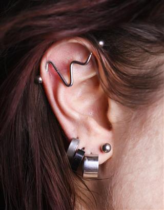 Bizarre earrings