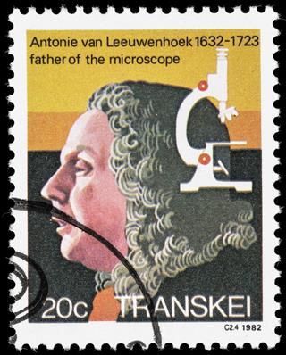 Antonie van Leeuwenhoek postage stamp