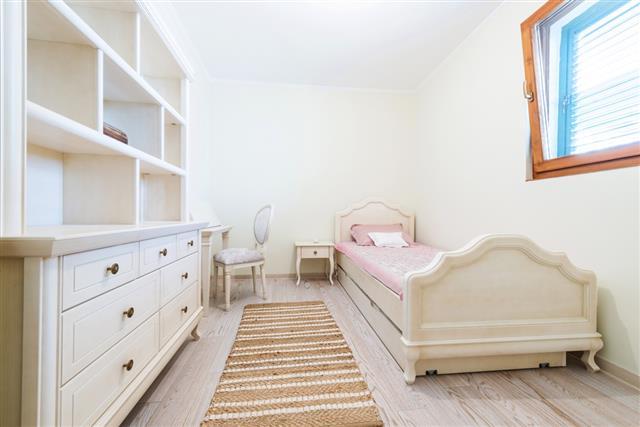 Simple girls bedroom interior