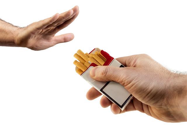 Gesture no smoking
