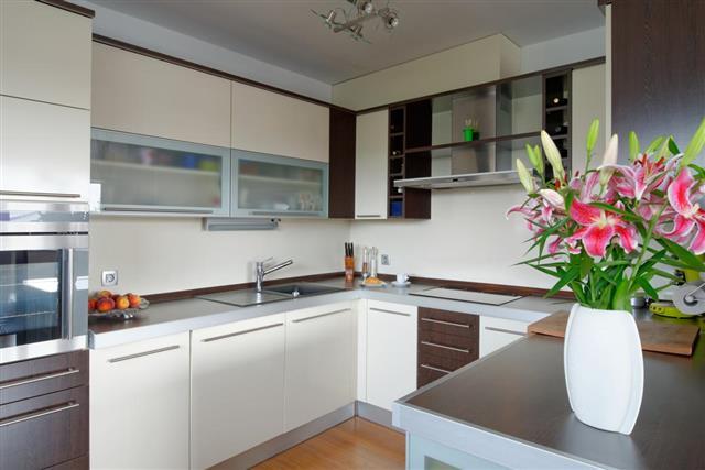 Flower vase in kitchen