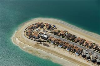 Close Up Of A Coastal Settlement