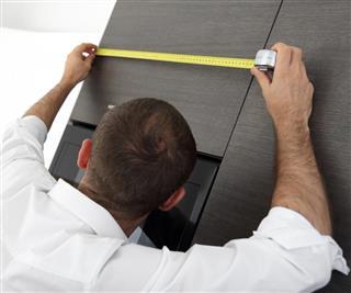 Measuring kitchen furniture