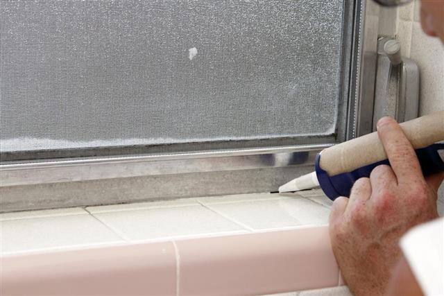 Caulking a Bathroom Window Frame