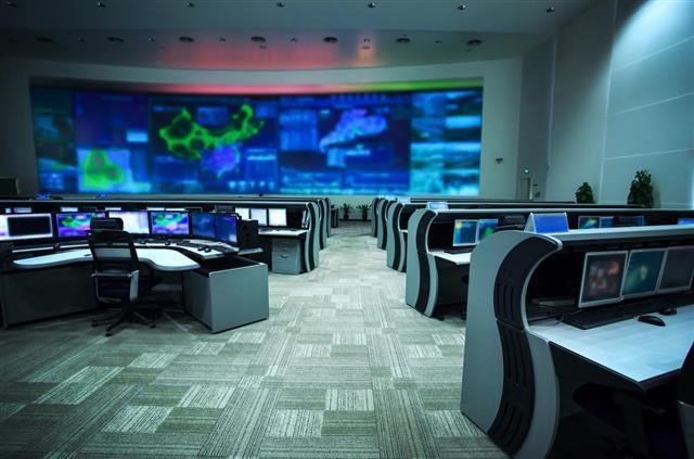 Modern control room