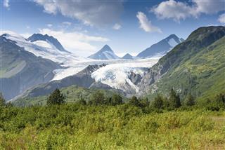 Worthington Glacier in Alaska