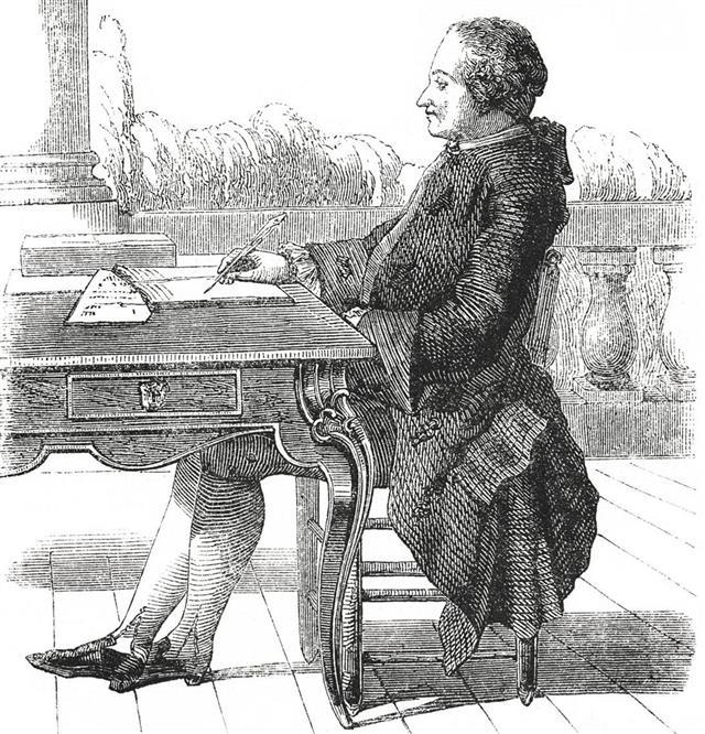 Portrait of Alexis Claude Clairaut (antique engraving)