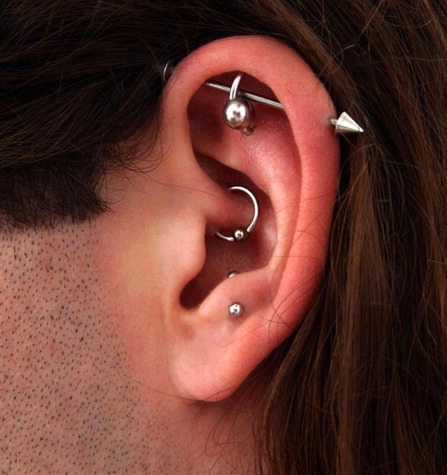 Man's Pierced Ear