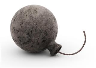 Bomb,cast iron