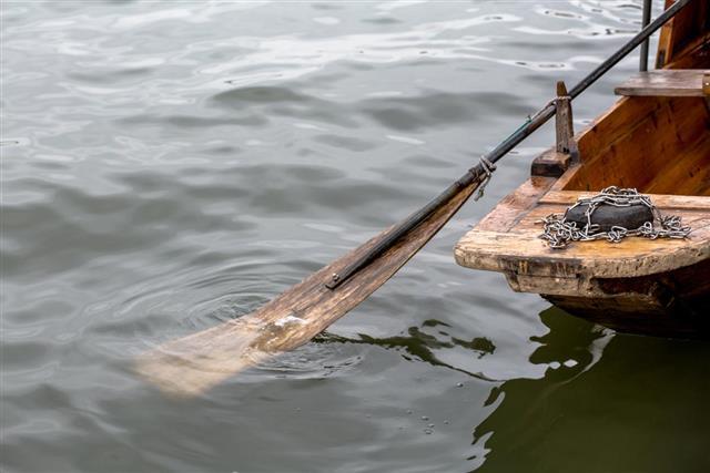 Oars and stern