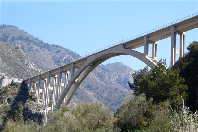 Truss arch Motorway bridge