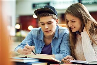 Doing homework together