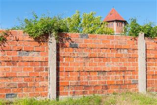 Fence ,brick wall