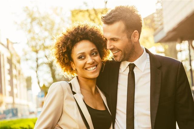 Flirting Elegant Couple
