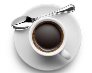 Espresso with demitasse spoon