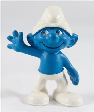 Smurf saluting