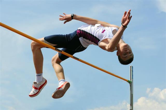 High jump athlete