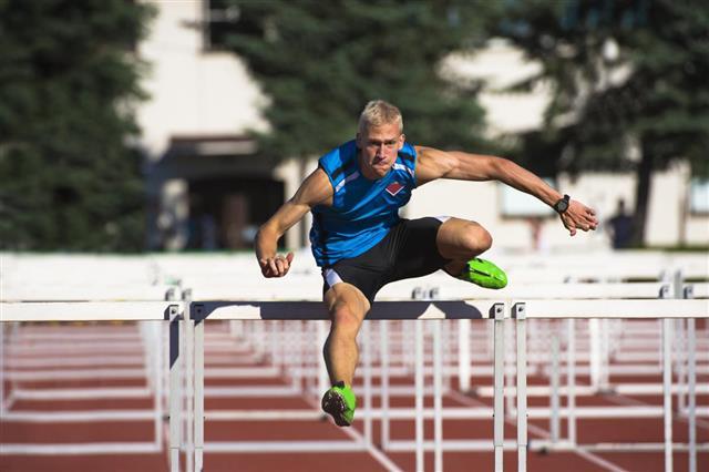 Hurdle race 110 m