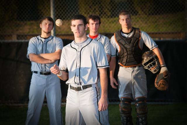 Group of baseball players standing together