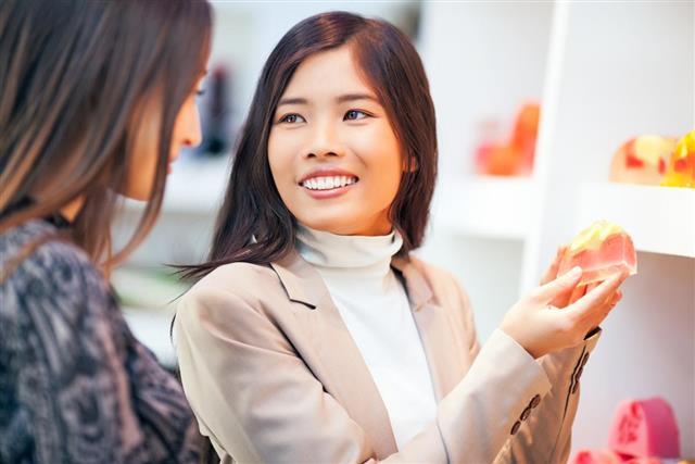 Women Buying product