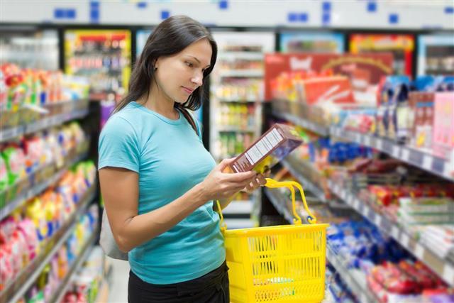 woman checking price