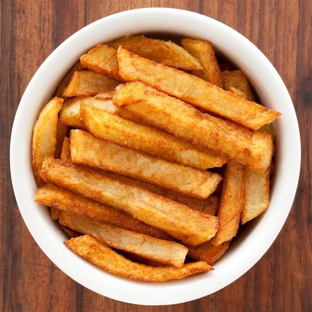 potato fries in a bowl