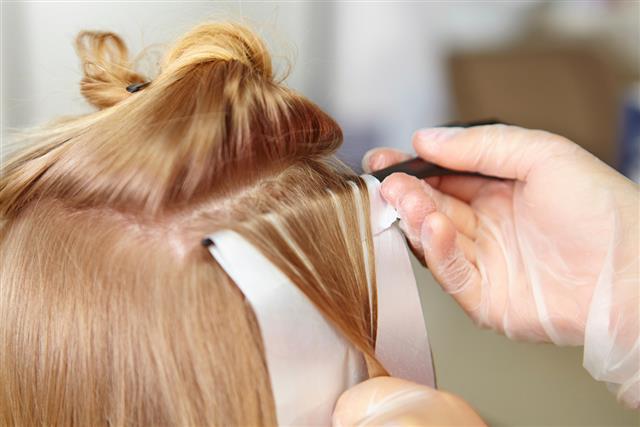 Hair salon. Coloring