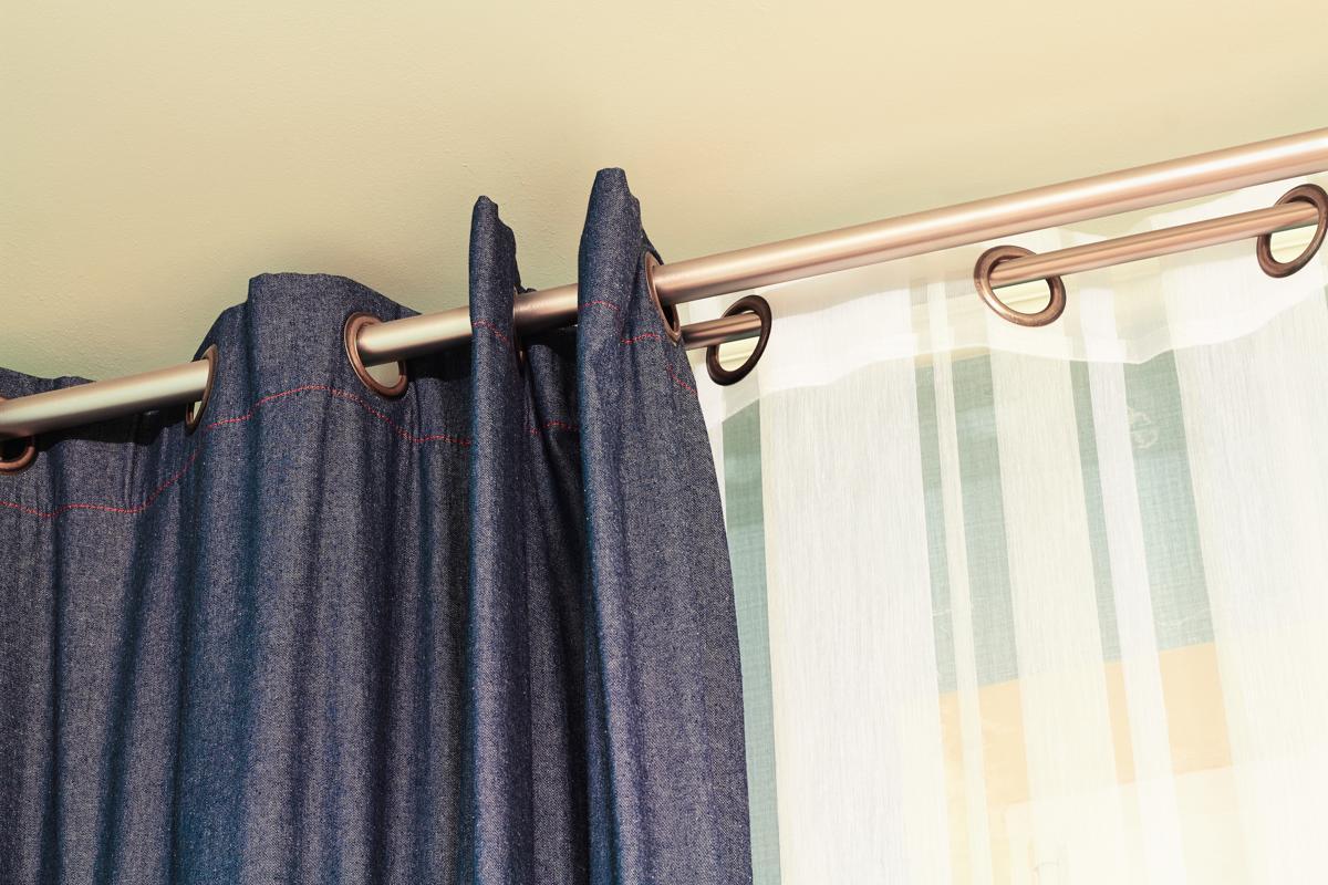 Triple Curtain Rods